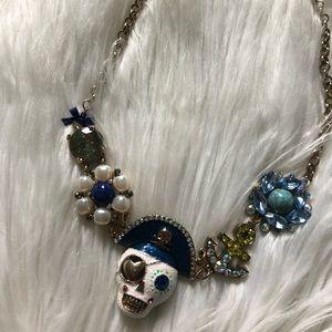 Betsey Johnson Pirate Skull Necklace